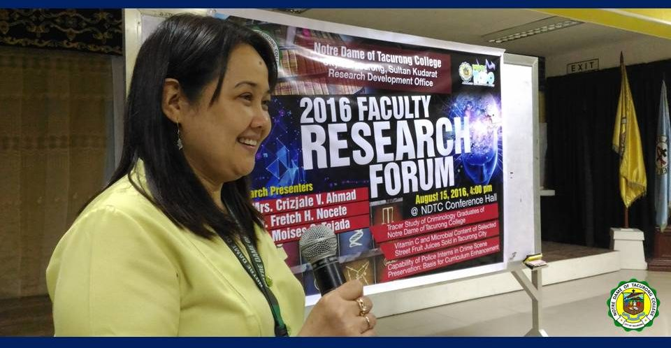 <b>RDO conducts Faculty Research Forum</b>